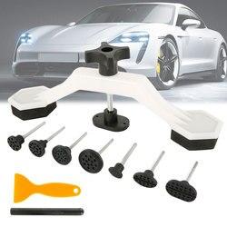Universal Car Dent Repair Body Damage Fix Tool Pulling Bridge Puller Dent Removal Glue Tabs Hand Repair Tools Kit Paintless