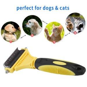 Парикмахерские инструменты для домашних животных, щетка для ухода и чистки кошек и собак