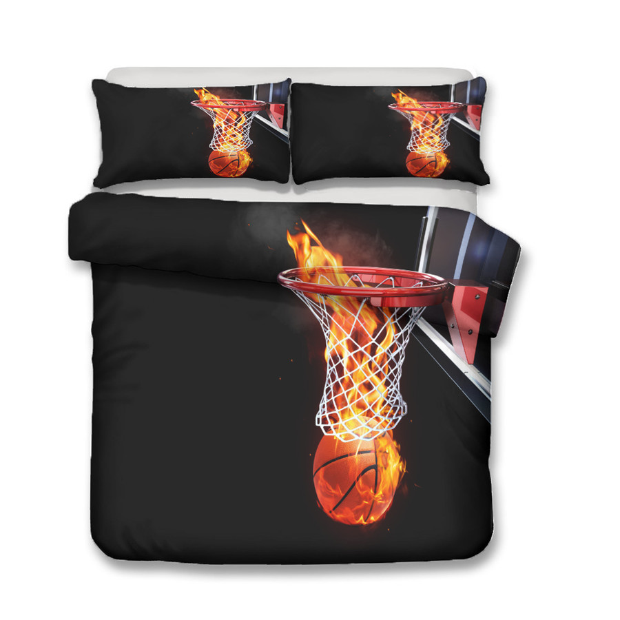 A Bedding Set 3D Printed Duvet Cover Bed Set Basketball Home Textiles for Adults Bedclothes with Pillowcase LQ13 in Bedding Sets from Home Garden