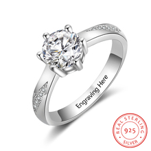 Personalized Engagement Rings 925 Sterling Silver Cubic Zirconia Rings for Women Exquisite Wedding Women Jewelry (RI103758) thaya facing the sea rings blue zirconia rings 925 silver jewelry for women lover wedding gift