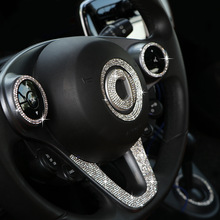 Crystal-Sticker Decorative Forfour Car-Interior Smart-453 451/Fortwo/Forfour/Car-decoration-accessories