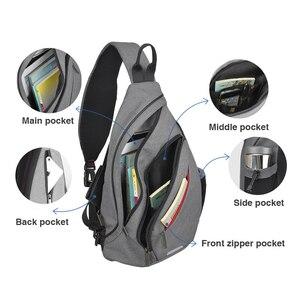 Image 5 - Mixi hommes une épaule sac à dos femmes sac à bandoulière USB garçons cyclisme sport voyage polyvalent mode sac étudiant école université