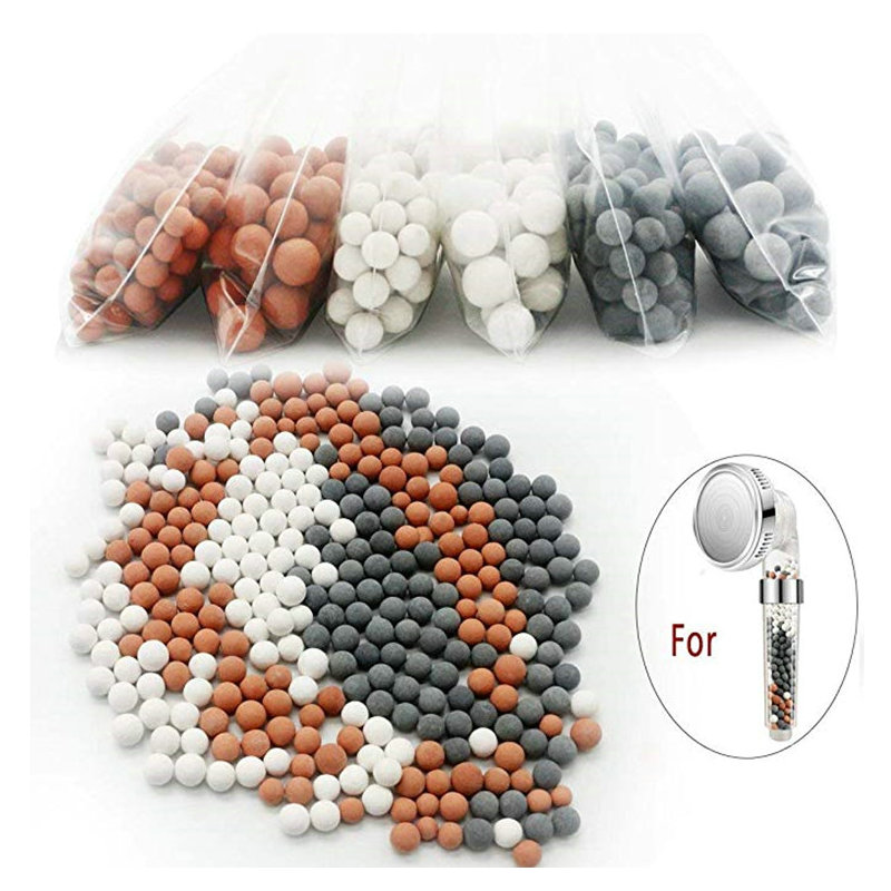 Shower Head Replacement Beads Water Filter Purification Energy Anion Mineralized Negative Ions Ceramic Balls Bathroom Accessory