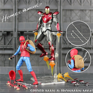"Image 2 - Spider Homecoming 6"" Action Figure Holland Avenger Iron Man Ironman MK47 Mark47 KOs SHF Legends Toys Doll Model"