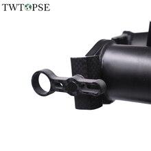 TWTOPSE углеродный велосипедный зажим для Brompton, складные велосипедные зажимы, титановый осевой шарнир, рычаг, пластина, крючки, легкие, 25,6 г, запчасти