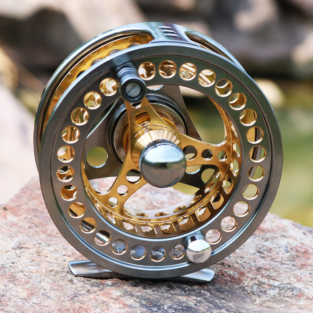 Sougayilang Large Arbor Fly Fishing Reel 2+1 BB High Die Casting Aluminium Alloy Spool Fly Reels Fishing Tackle 20