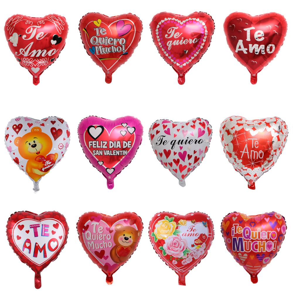 """10 pc 11/"""" Pink Heart Shaped Latex Balloons Happy Valentine/'s Day Love You"""