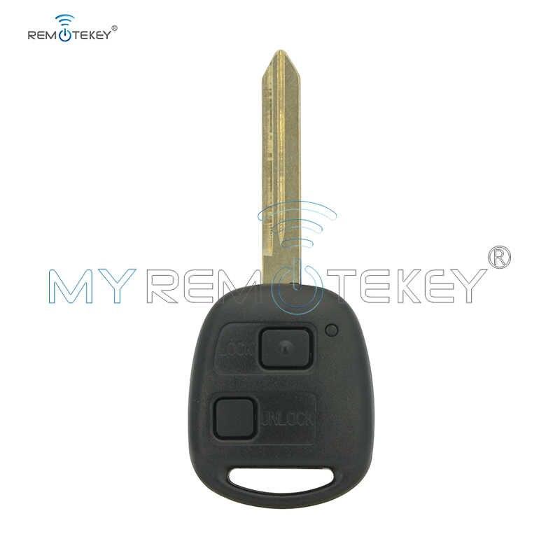 Remtekey 2 כפתור Keyless כניסת Fob מרחוק מפתח עבור טויוטה Rav4 קורולה יאריס 433mhz ללא/4c /4d67 שבב optioanl Toy47 להב