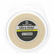 1 rolo 12 jardas branco ultra segure dupla face adesivos fita de cabelo para peruca de cabelo/laço perucas fita adesiva peruca 1.27/1.9/2.54cm