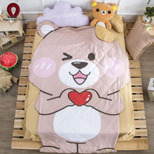 Blanket quilt love bear duvet summer and winter king size double size handmade bedding cartoon free shipping(China)