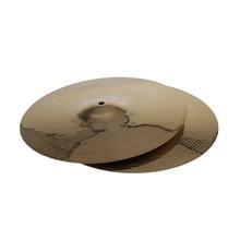 2 шт. сплав Hi Hat тарелки 14 дюймов для барабанной установки части Золотой 14 дюймов Группа ритм детали ударного инструмента