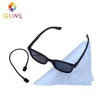 GLWL детские солнцезащитные очки, Детские поляризованные очки с квадратными линзами для мальчиков, силиконовые детские зеркальные очки, дизайнерские маленькие детские очки для мальчиков