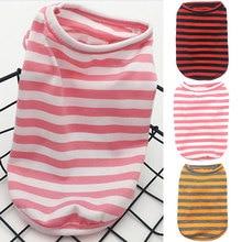 T-Shirt Dog-Cloth Summer Vest Spring Dog Small Stripe Medium Pet-Dog Soft