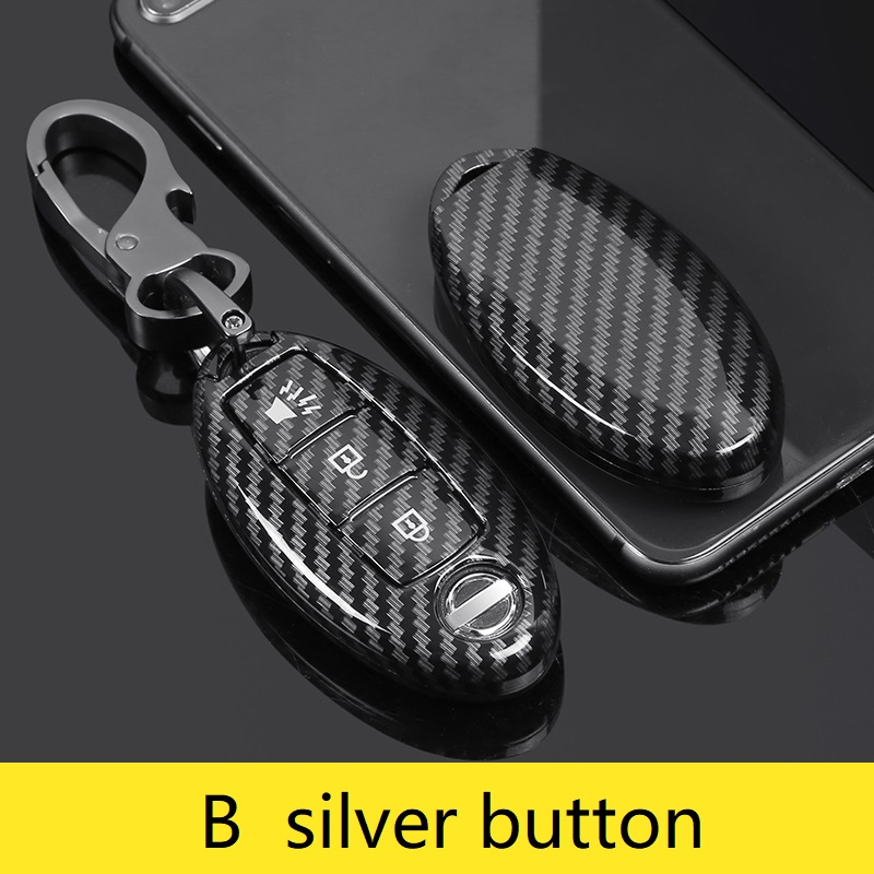 lowest price Carbon ABS Car Key Case For Nissan Versa Maxima Altima Rogue Armada Sentra Murano Infiniti FX35 QX60 Remote Cover Keys Bag
