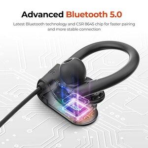 Image 5 - Mpow D9 kablosuz kulaklıklar Bluetooth 5.0 kulaklık APTX spor mikrofonlu kulaklık IPX7 su geçirmez için Huawei P30 iPhone 11