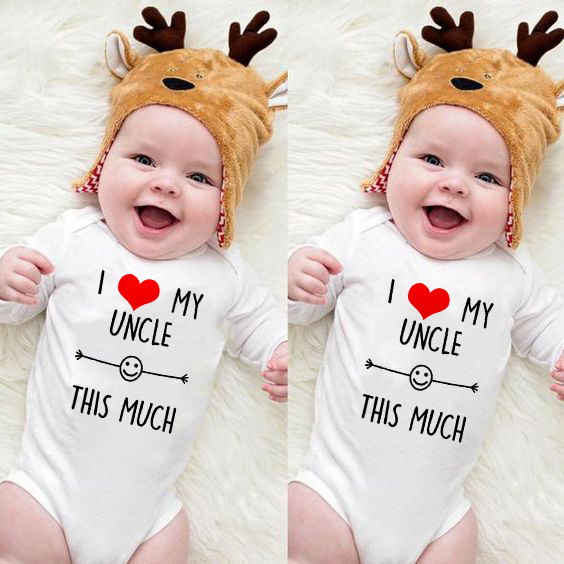 I Love My Uncle This Much Newborn Cotton   Romper   0-24M Infant Long Sleeve Funny Jumpsuit Toddler Baby Boy Girl Fashion Playsuit