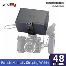 SmallRig Smartphone שמש הוד (קטן) נייד טלפון שמש חומת הוד מצלמה צג מסך LCD הוד עבור וידאו תמיכת Rig   2689