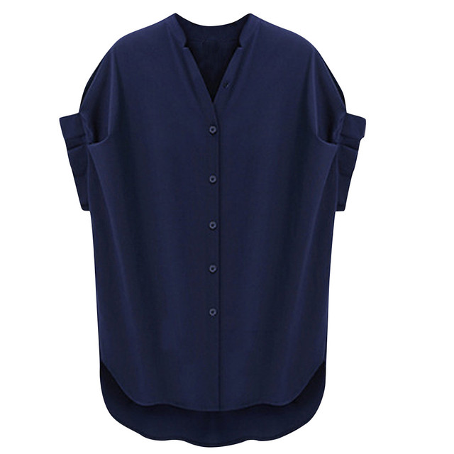 cuff sleeve v neck great top 2