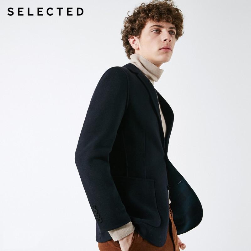 SELECTED Men A/W 50% Wool Patch Pocket Slim Fit Suit Jacket S|418408507