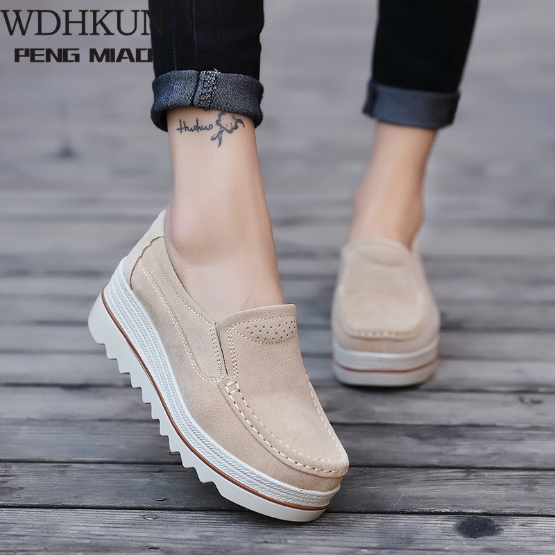 Women Casual Shoes Loafers New Round Toe Solid Female Sneakers Breathable Women Shoes Flats Plus Size Zapatos De Mujer