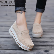 Women Casual Shoes Loafers New Round Toe Solid Female Sneake