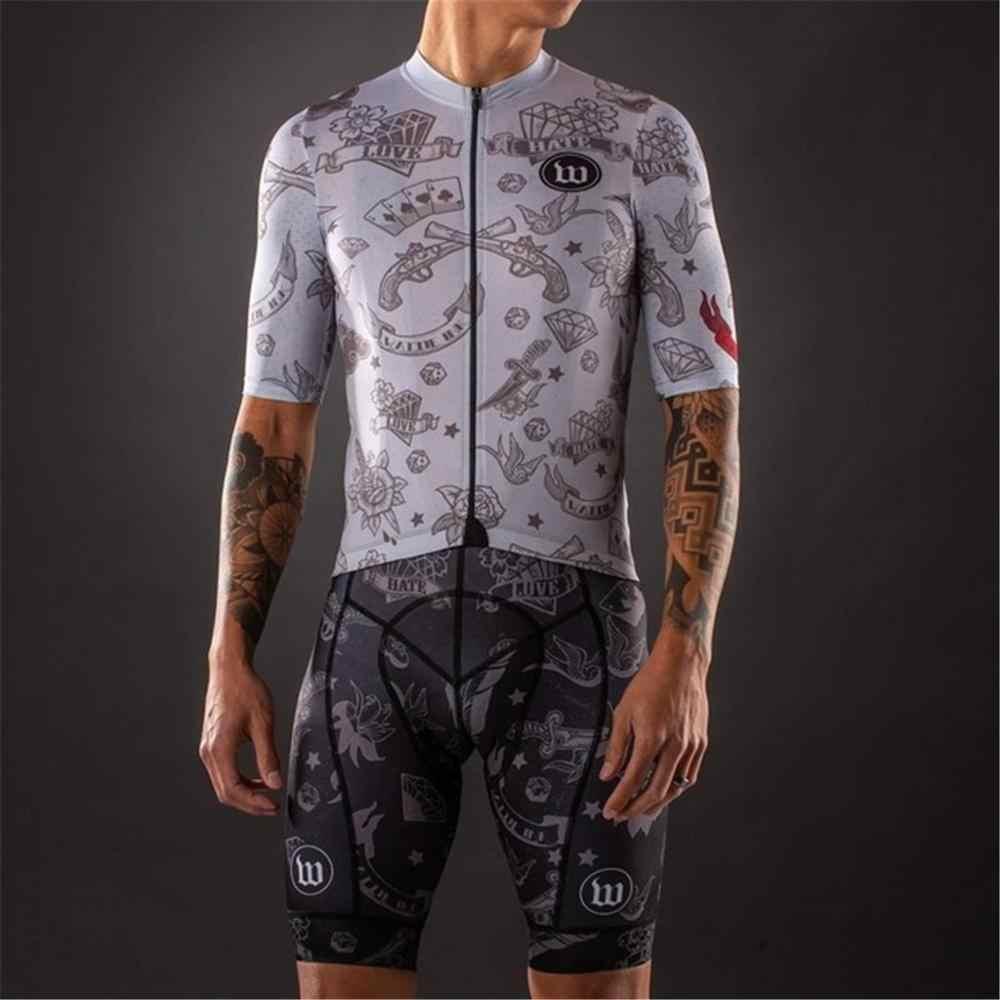 2020 Wattie tinte Pro Team bib Anzug herren kurzarm Radfahren Skinsuit Overall Maillot Radfahren sets Ropa ciclismo hombre