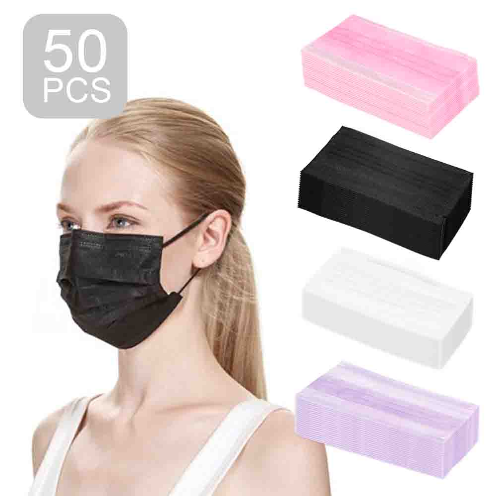 120 pack disposable face mask breathable dust filter