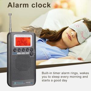 Image 5 - Retekess TR105 Air Band Radio portatile FM AM SW VHF Radio a banda intera ricevitore CB altoparlante di allarme digitale con Antenna estesa
