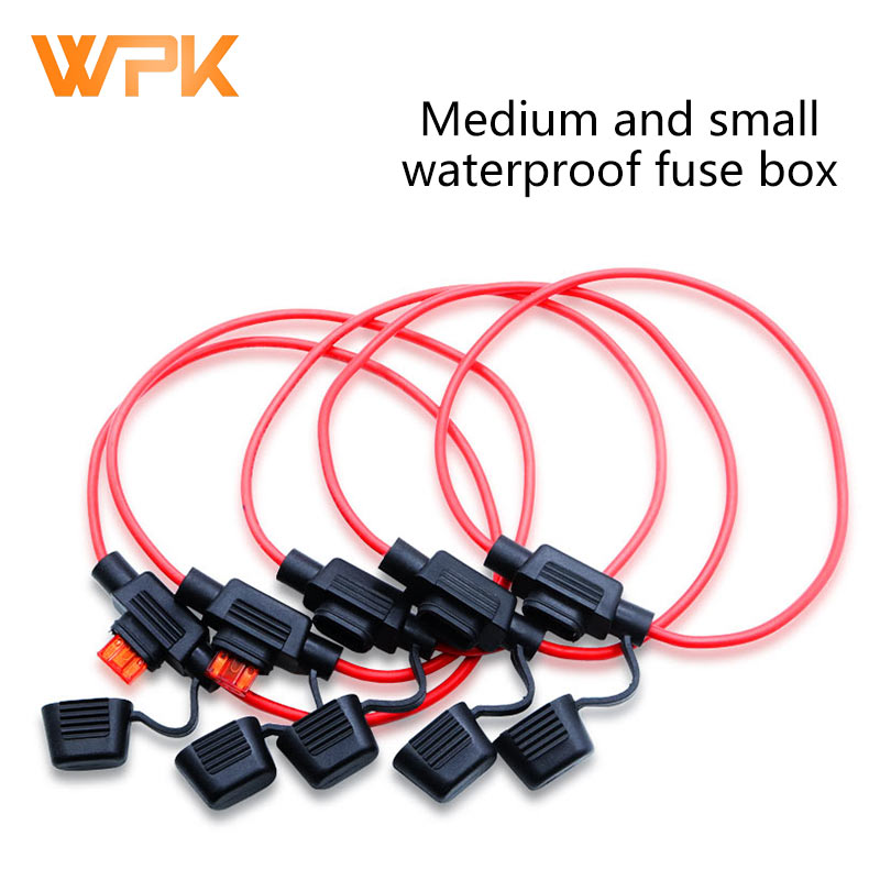 Fuse Socket Car With Medium And Small Waterproof Fuse Box Car Modified High-Quality Fuse With Cable 1Pcs
