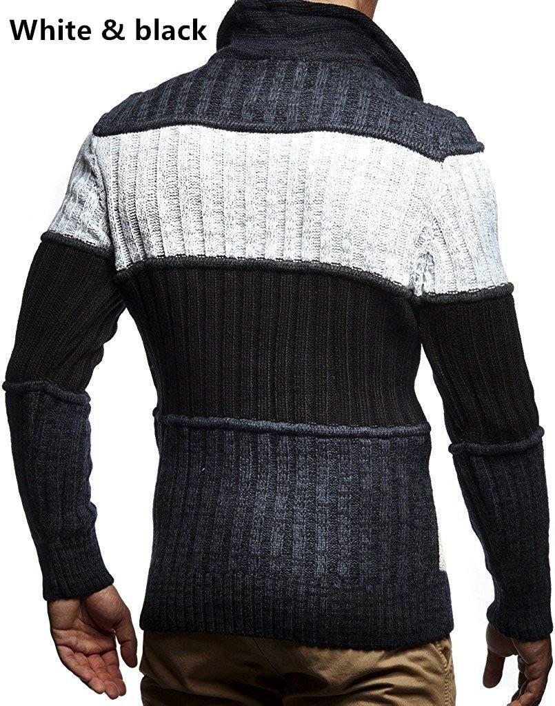 ZOGAA 2019, однотонный вязаный мужской свитер в клетку, одежда, мужской Рождественский свитер, одежда 2019, зимний мужской пуловер и свитер для мужчин, пальто - 5