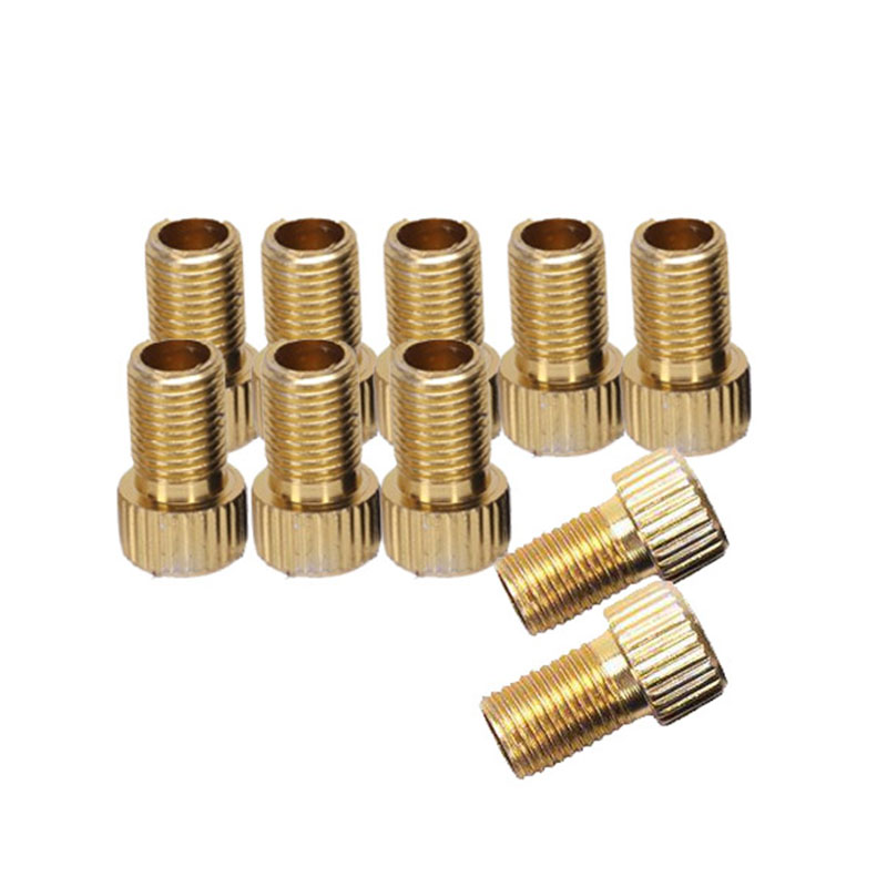 10Pcs Presta To Schrader Valve Adapter Converter Alloy Bicycle Bike Tire Tube