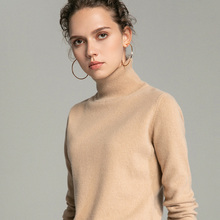 Womens wool Sweaters 2019 Winter Tops Turtleneck Sweater Women Thin Pullovers Knitted Pullover  New style