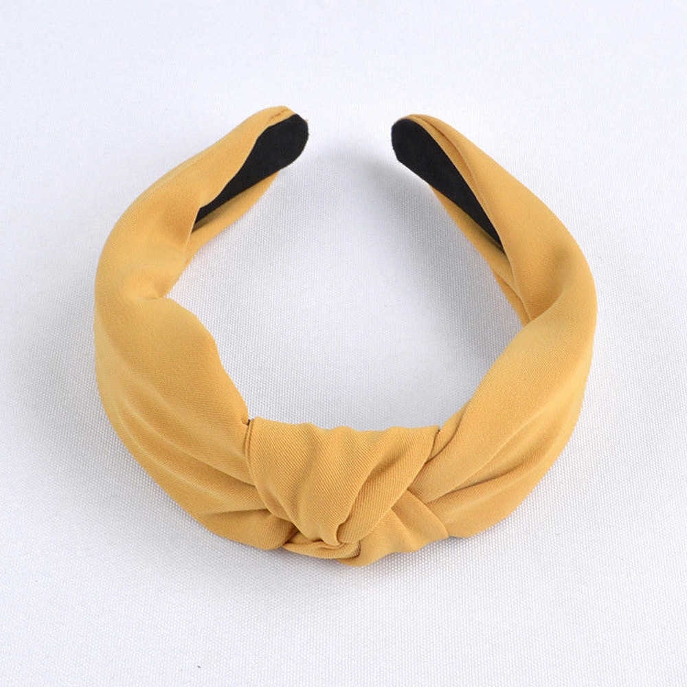 Czeski kobiety elegancki top Knot Plaid z pałąkiem na głowę Hairbands uchwyt na włosy Turban moda włosy w kolorze cukierkowym Hoop akcesoria do włosów 903