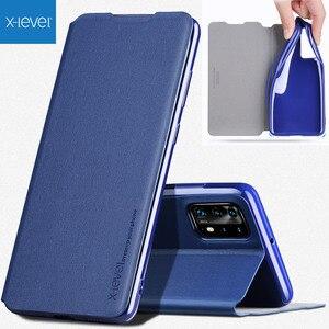 Image 1 - X level Book skórzane etui z klapką do Huawei P40 Pro Pro + Plus Ultra cienka szczupła
