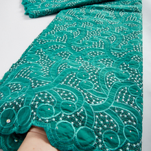 Dress Lace-Fabric Swiss Wedding African High-Quality Cotton for Party 5-Yards TY040 Dubai