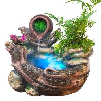 Rockery креативный фонтан для воды, настольные украшения, Китайский Фэншуй, садовые украшения, увлажнитель воздуха для помещений, Декор для дом...
