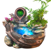 Rockery Creative Water Fountain Desktop Ornaments Chinese Fengshui Garden Ornaments Indoor Air Humidifier Home Office Decor