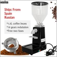Xeoleo moedor de café elétrico comercial & casa moedor de feijão de café turco máquina trituração profissional miller 200w