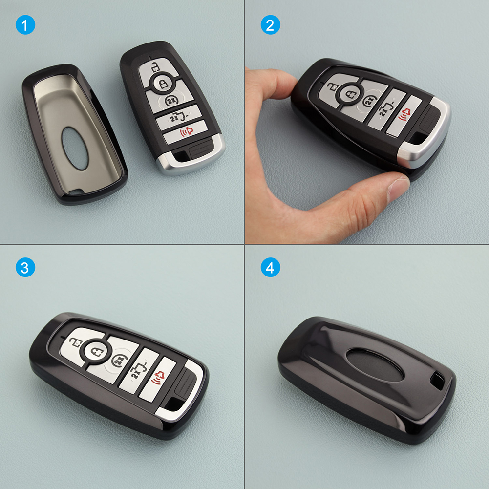 TPU Remote Smart Key Fob Shell Cover Case For Ford Explorer F-150 F-250 Ranger