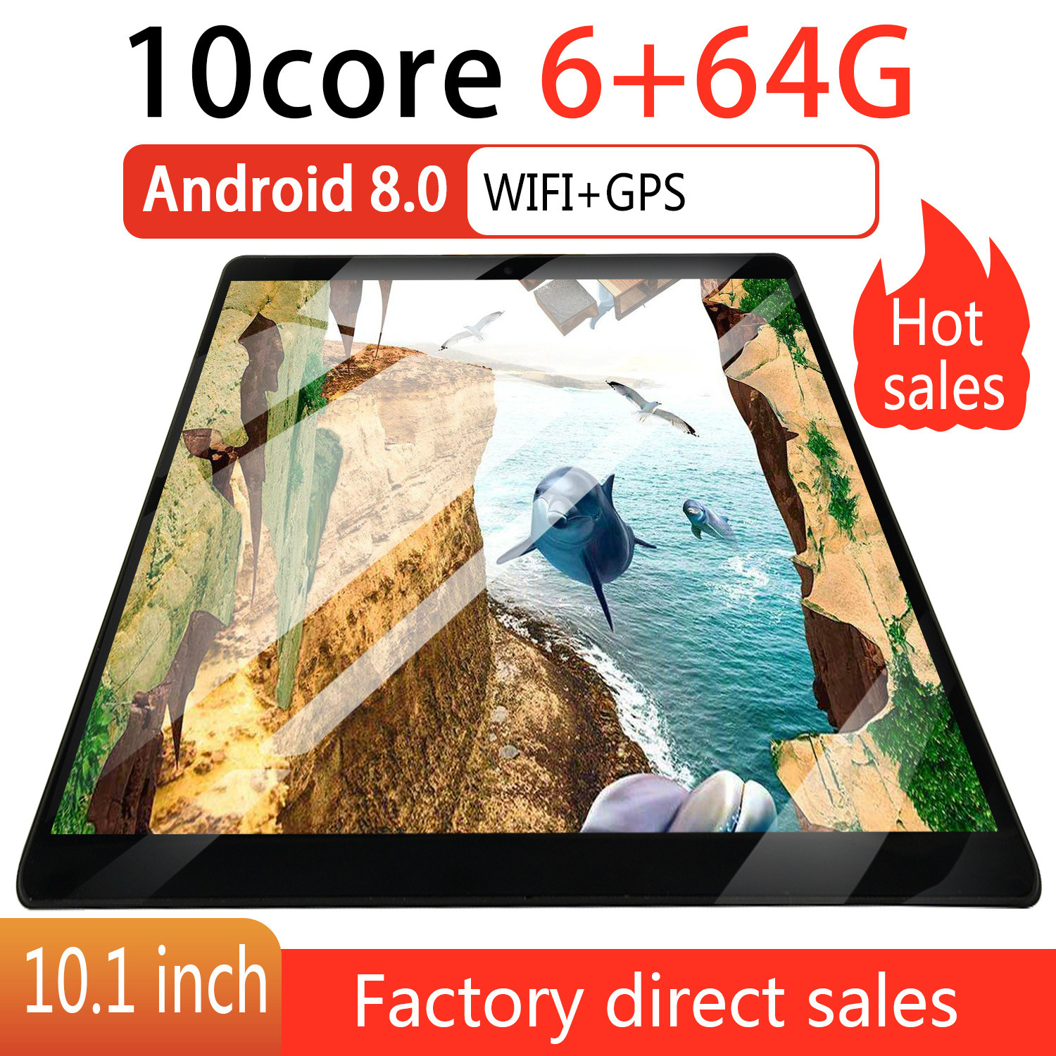 HD IPS 2.5 Screen 10 Inch Tablet 6GB+16GB/64GB Android 8.0 WiFi Tablet PC Dual SIM Call Phone