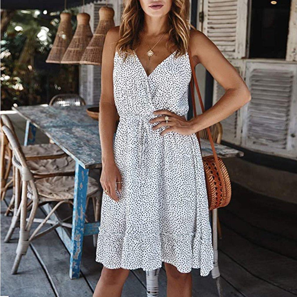 Summer Women V-Neck Dress  4