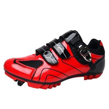 Sapatos de ciclismo respirável não-deslizamento profissional auto-bloqueio de bicicleta sapatos de corrida mtb estrada sapatos de ciclismo 1