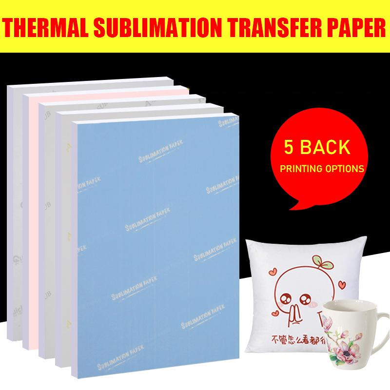 A3 A4 100 Sheets Inkjet Printing Sublimation Heat Transfer Photo Paper,t-shirt Dark Transfer Paper Iron On Heat Press Printer