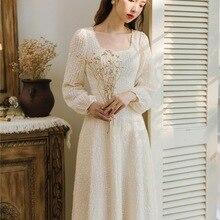 Новая мода Женская одежда ретро платья зимнее платье