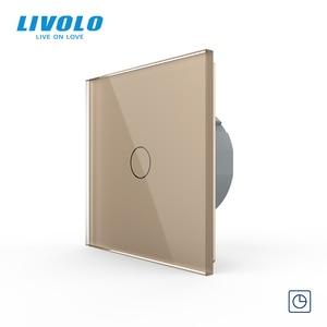 Image 3 - Livolo interruptor de temporizador padrão da ue (30s de atraso), ac 220 250 C701T 1 v, painel de vidro de 7 cores, interruptor de toque leve + indicador led, 3/5/2/
