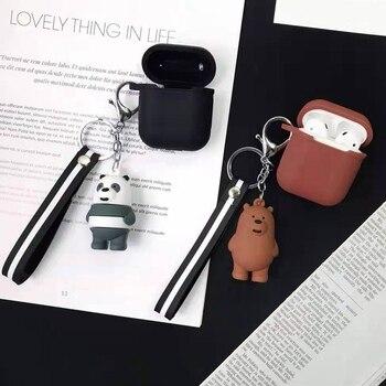 Mignon coque en Silicone écouteurs pour Apple Airpods i12 TWS Bluetooth casque protection peau couverture dessin animé Panda boîte avec porte-clés