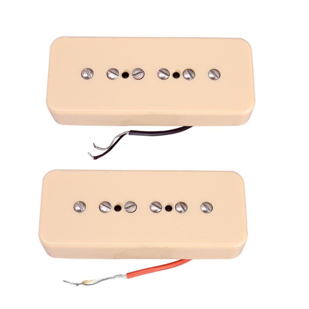 2 szt. Krem P90 Soapbar Neck & Bridge przetworniki Humbucker 50/52m rozstaw biegunów na części do gitary elektrycznej