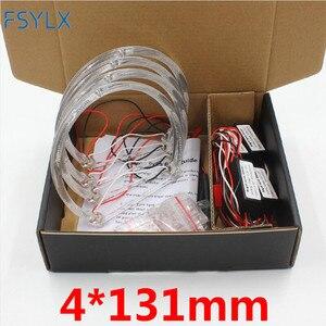 Image 2 - FSYLX LED עיני מלאך עבור BMW E46 halo אור שגיאת משלוח SMD מלאך עין E36 E38 E39 E46 מקרן לבן צהוב אדום כחול מלאך עיניים