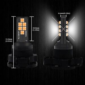 (2) Canbus Amber PY24W PSY24W лампа SAMSUNG светодиодный светильник сигнала поворота DRL для Range Rover Sport 2010-2012 для BMW E90 E91 E92 E93