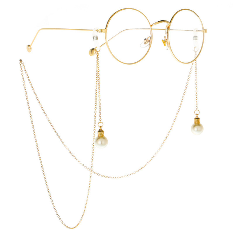 Eyeglasses цепи для Для женщин солнцезащитные очки в металлической оправе очки для чтения шнуры Винтаж держатель для очков, ремешок с